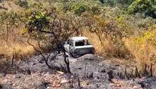Polícia encontra carro incendiado que pode ter sido usado por Lázaro