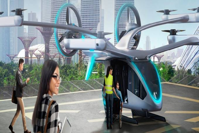 """O eVTOL, o """"carro voador"""", já passou pelos testes de simuladores"""