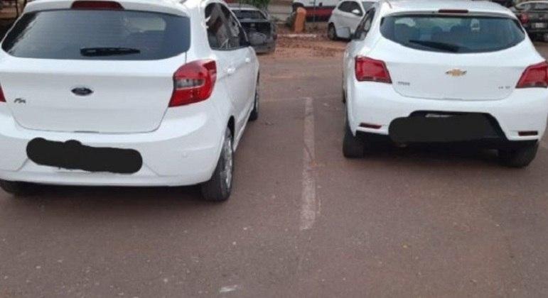 Carros apreendidos após roubo na Cidade Ocidental e em Santa Maria