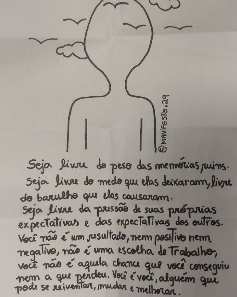 Enem Grupo Exibe Cartazes Contra Ansiedade E Inseguranças