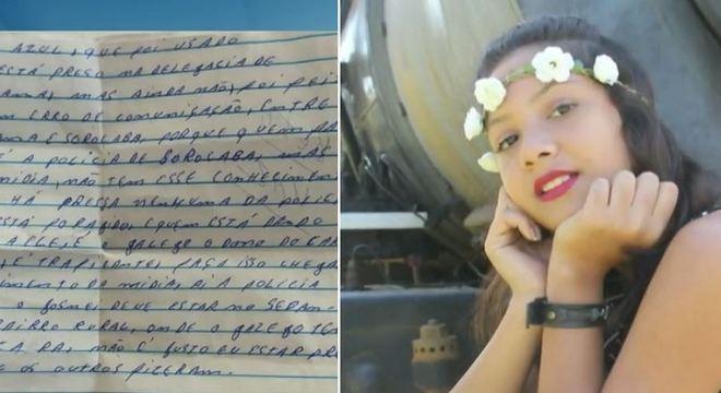 Condenado pela morte de Vitória Gabrielly manda carta aos pais dela