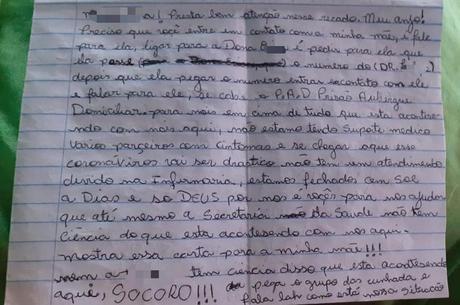 Em carta, preso demonstra medo de coronavírus