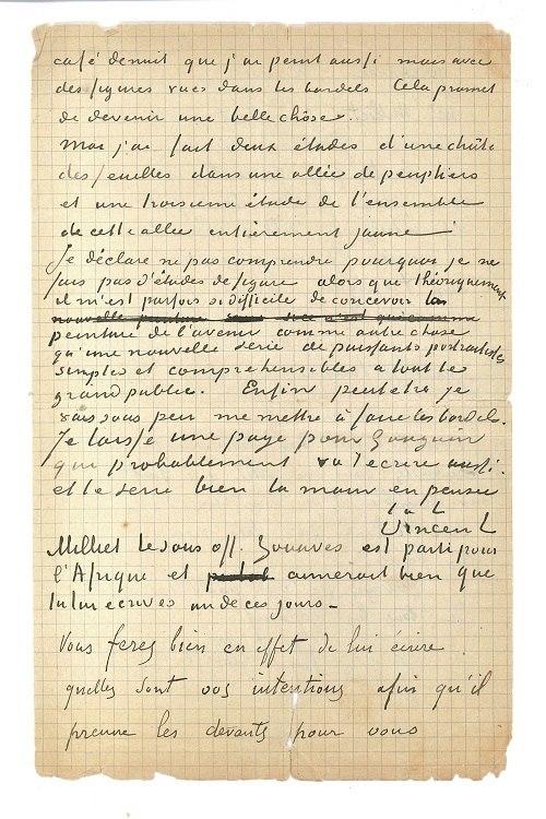 Carta escrita por Van Gogh para Paul Gauguin