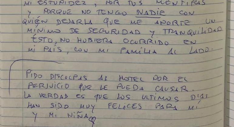 Procurado pela Interpol deixou carta antes de pular de prédio de hotel com a filha no colo