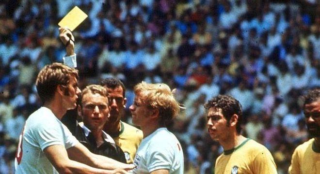 Copa de 70, Brasil 1 X 0 Inglaterra, o cartão amarelo, por Abraham Klein