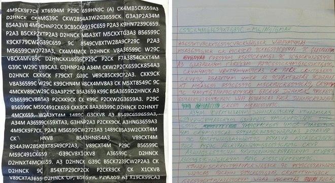 Cartas com plano de revanche de PCC estavam codificadas