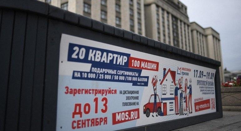 As eleições russas parlamenteares acontecerão entre os dias 17 e 19 de setembro