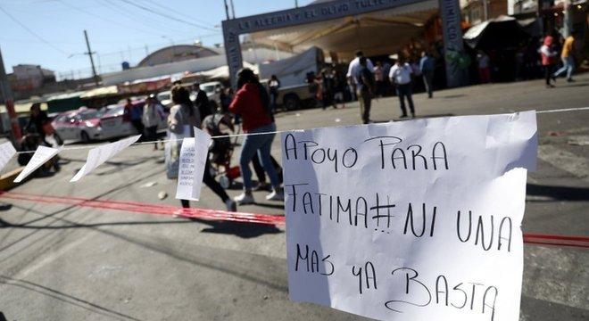 Morte de Fátima desencadeou protestos no México