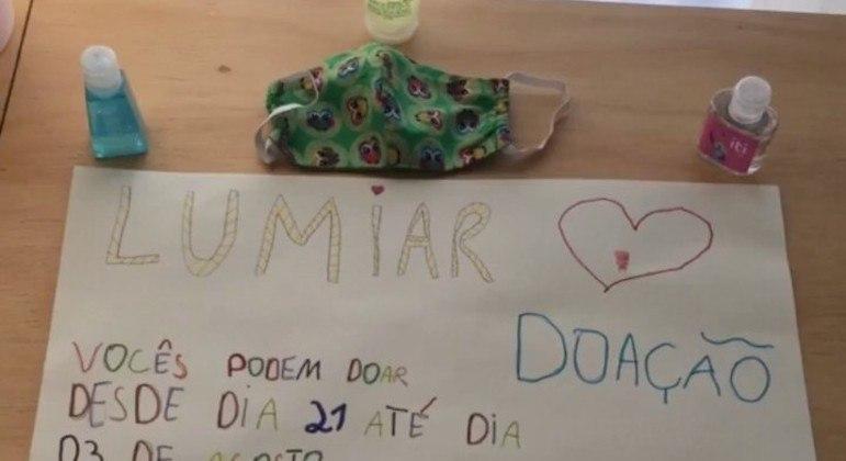 Estudantes de 5 anos a 8 anos ficaram responsáveis pela divulgação da campanha