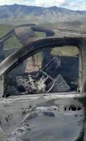 Veículo foi destroçado em ataque