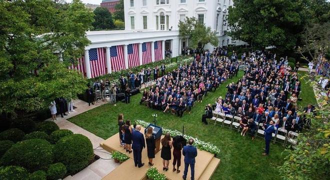 Evento na Casa Branca no sábado passado reuniu dezenas de convidados