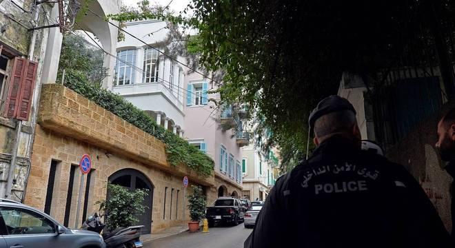 Casa de Carlos Ghosn no bairro de Achrafieh, em Beirute, capital do Líbano