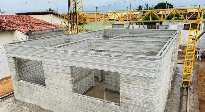 Construção de casa com tecnologia 3D é mais rápida e segura