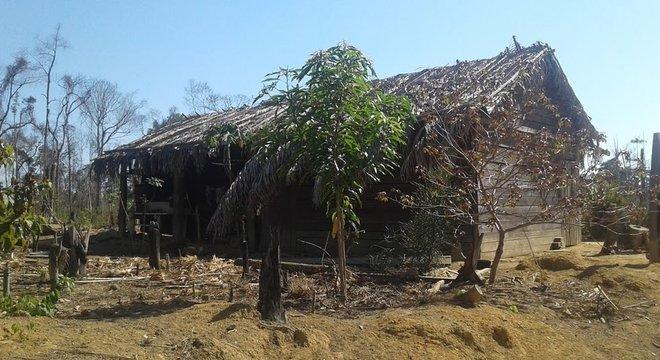 A casa que era a primeira residência própria de Eidi e Romildo