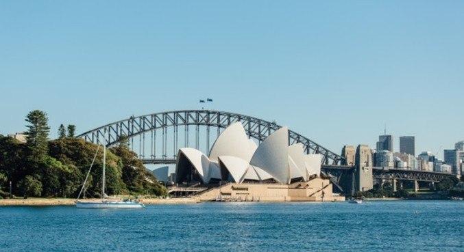 A casa da Ópera de Sydney, capital da Austrália