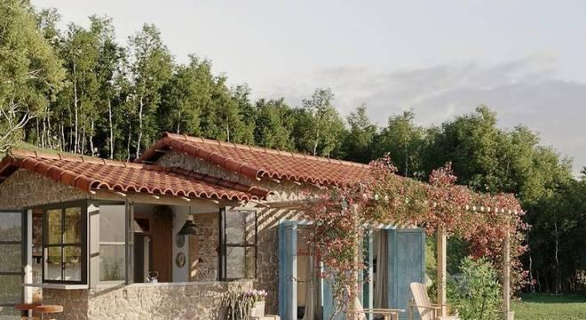 Casa no lago Rancho da Montanha