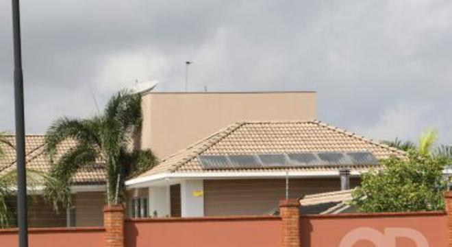 Casa sustentável de energia solar