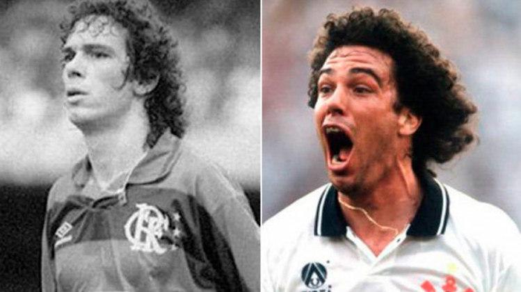 CASAGRANDE – Revelado no time do Parque São Jorge no ano de 1980, Casagrande teve uma passagem pelo Flamengo, antes de retornar ao Corinthians em 1994.