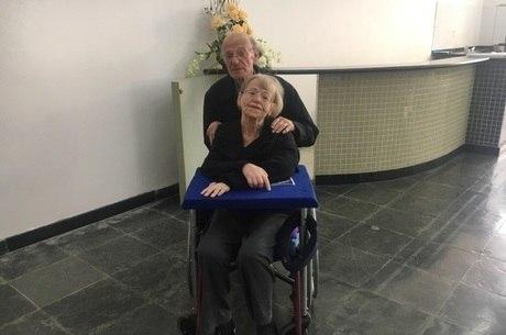 Natalina e Darcio participaram do evento em SP