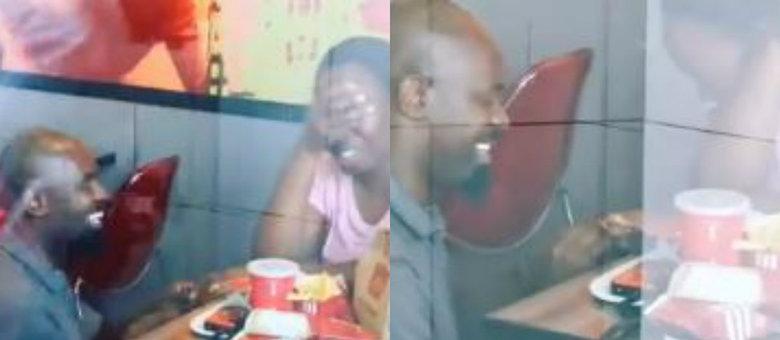 Casal fica noivo em rede de fast food, viraliza e ganha festa