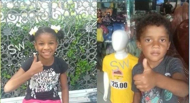Crianças foram encontradas dentro de um lago