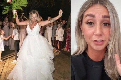 Jillian em seu casamento e em vídeo do TikTok