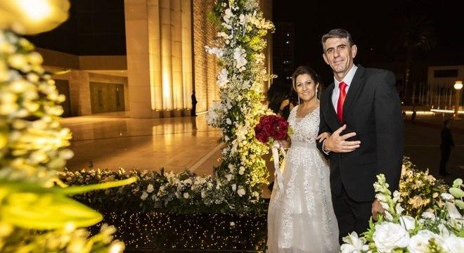Humberto e Mirtes exaltaram a oportunidade de se casar no Templo