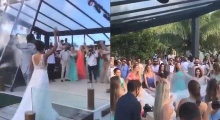 Vídeos mostram aglomeração em casamento de médicos de BH