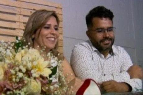 Heloísa e Welton se casaram em cerimônia virtual