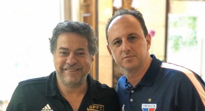 Casares, presidente do São Paulo, e Ceni, quando era técnico do Fortaleza