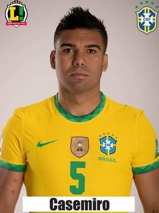 Casemiro: 6,5 – Cão de guarda da Seleção, o camisa 5 foi importante nos desarmes e nas bolas longas. Peça chave do Brasil de Tite.