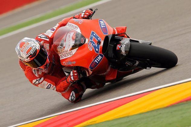 Casey Stoner corrida na Ducati