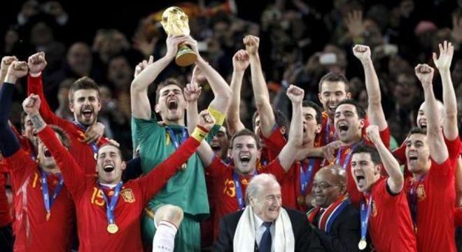 Casillas foi o capitão da Espanha campeã do mundo em 2010