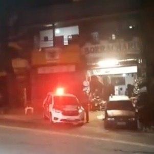 Polícia Militar preservando o local do acidente