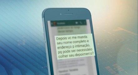 Pinho enviou mensagens para diversos amigos