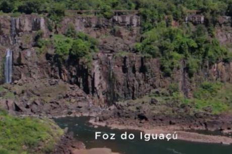 Campanha da Sanepar mostra os paredões das Cataratas