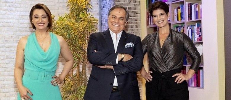 """Cátia Fonseca, Ronnie Von e Mariana Godoy na estreia do """"Melhor Agora"""""""