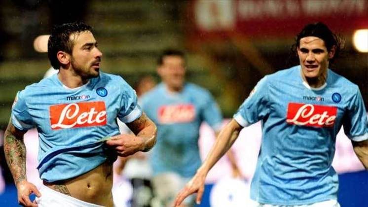 Cavani e Lavezzi: jogaram juntos no Napoli e no PSG.