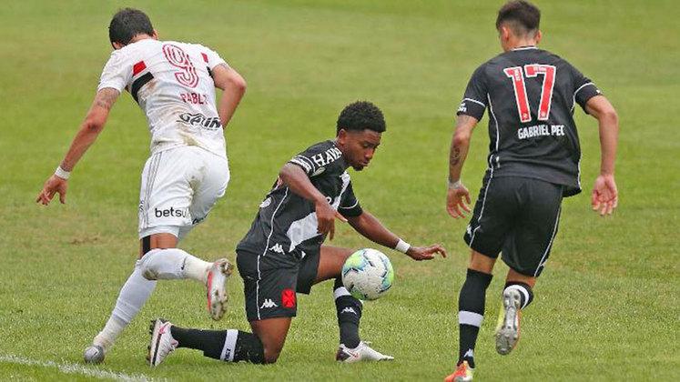 Cayo Tenório - subiu: atuação regular no primeiro jogo, e com frequência no apoio no segundo. Pode se consolidar como a primeira opção a Léo Matos.