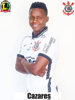 Cazares - 5,5: Entrou na equipe na segunda etapa, mas não conseguiu dar uma cara diferente para o Corinthians, pouco mudando a ofensividade do time.