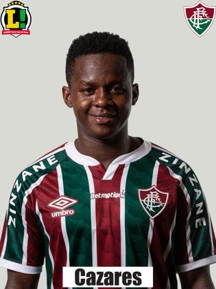 Cazares - 6,5 - Entrou na parte final da partida e se destacou ao cobrar uma bela falta, que o goleiro do Bahia salvou. Na sequência do lance, o paraguaio Raúl Bobadilla finalizou e fez o gol da vitória do Fluminense .