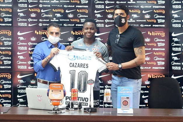 Cazares - Apresentado em 26 de setembro - Também contratado depois de passar pelo Atlético-MG e deve brigar pela titularidade para jogar ao lado de Otero no meio-campo do Corinthians - Ainda não estreou.