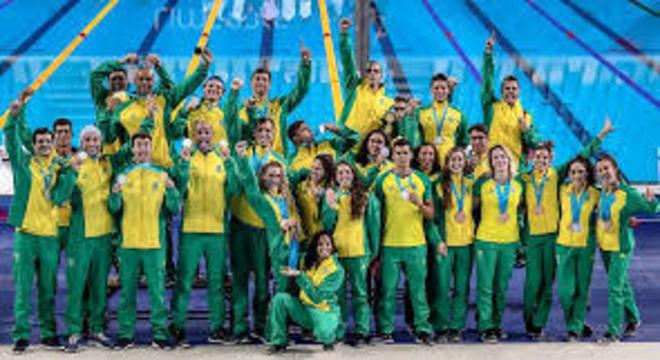 A equipe de Natação do Brasil em Lima, sucesso espetacular