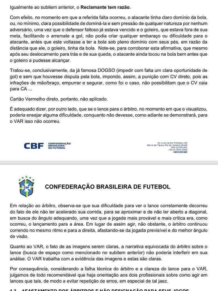 Ouvidoria da CBF admite que arbitragem e VAR ajudaram o Corinthians