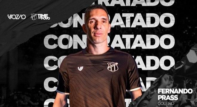 O goleiro Fernando Prass fará a temporada de 2020 pelo clube cearense