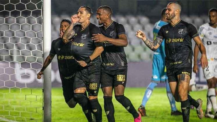 Ceará: cenário 2 (com transferências de atletas) - Receitas: R$ 102 milhões - Folha salarial: R$ 46 milhões - Receitas x Folha (em %): 45% - Conclusão: abaixo do fair play financeiro.