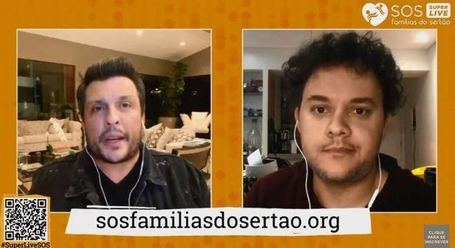Ceará e Gui Santana agitaram a live com imitações de famosos