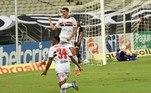 Na partida entre Ceará e São Paulo, ocorreu mais um gol contra bizarro no Brasileirão... Após chute de Eder, Richard, goleiro do Vozão, espalmou, mas Gabriel Dias se atrapalhou e rebateu para dentro do gol do Ceará. Que fase!