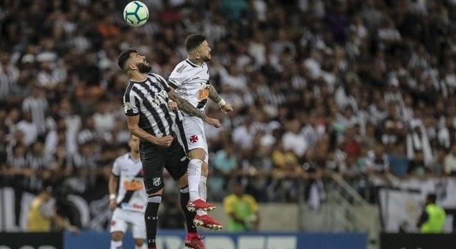 Ceará e Vasco empataram por 1 a 1,  em Fortaleza, pela 28ª rodada do Brasileiro