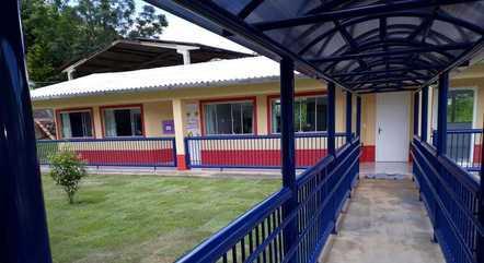 Parte interna da creche Aquarela, em Saudades (SC)